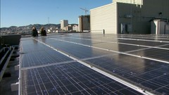 Solar Roof on the Plaza Apartments (kqedquest) Tags: california green ecology architecture geotagged solar francisco energy leed science kqed pbs sustainability greenbuilding murb kqedquest geo:lat=377800568486352 geo:lon=122407117520078 pubcasting publictelevisionsan