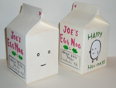 Joe's Egg Nog carton