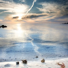 Hermit Race (Eszra) Tags: ocean sunset seascape beach vertical clouds landscape sand bravo pano shell crab hermit edit waterscape naturesfinest supershot specnature anawesomeshot impressedbeauty