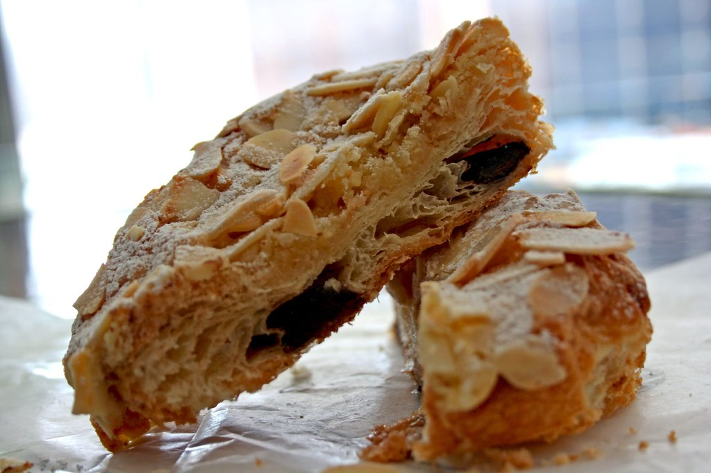 Innards of the Chocolate Almond Croissant