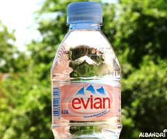 The real mineral water! ([  //  QTR) Tags: france tree green water bottle evian blackpearl mineralwater albandri fajir~qatar cliniquehappy