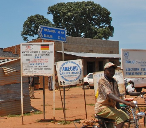 Road between Bujumbura and  Makamba