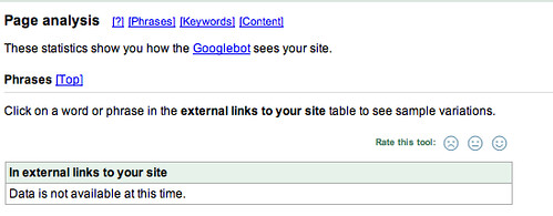 Google anchor text reports offline also