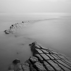 Kilve Pavements VII (Adam Clutterbuck) Tags: ocean longexposure sea blackandwhite bw seascape monochrome square landscape mono coast blackwhite seascapes pavement somerset bn coastal shore elements bandw sq oe pavements greengage kilve adamclutterbuck eastquantoxhead sqbw bwsq showinrecentset openedition