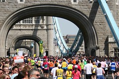 Tower bridge and the marathon