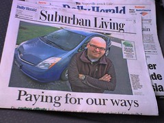 Whoah! Cover story on me/Prius/TerraPass in today's Daily Herald
