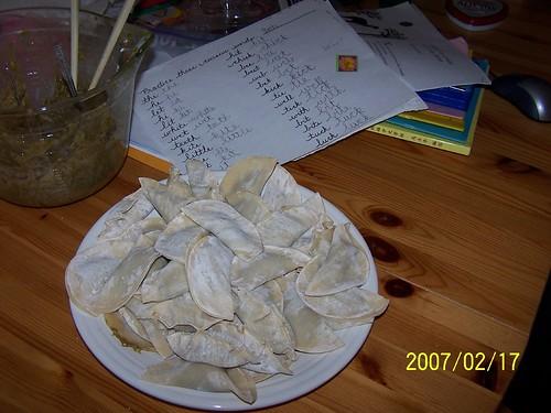 2007 Chinese New Year dumplings