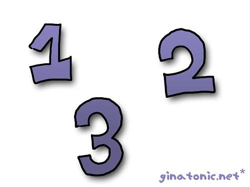 uno dos y tres