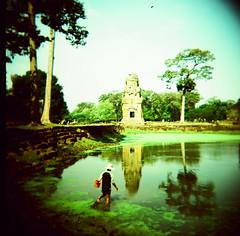 Angkor, Cambodia (Robin G. Ewing) Tags: travel holga asia cambodia fuji toycamera angkorwat provia top20xpro lpreflect