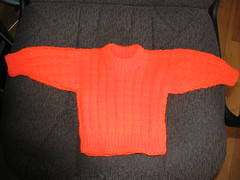 blaze orange baby sweater