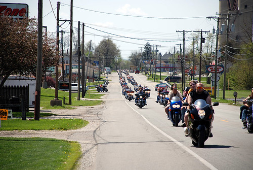 Motorcycle Run through Elwood, Indiana - kpaul