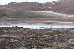 Steaming puddle (aosher) Tags: iceland hotspring myvatn