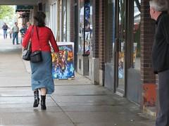 The Looker (sudergal) Tags: shopping boots snapshot saturday skirt sidewalk looker pointandclick may52007 24hoursofflickr snapshotofaday