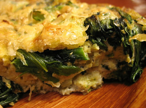 dandelion green frittata