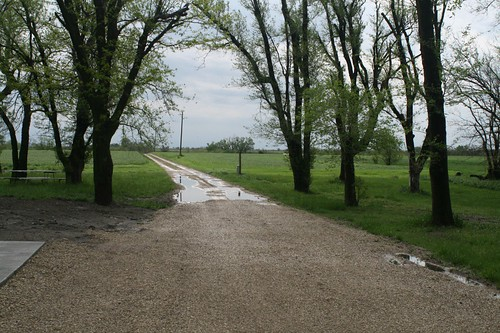 Our driveway after some rain
