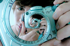 Me In My Camera (AndreaUPl) Tags: self photo andrea concentric pedretti portreit mathmap andreaup andreaupl andreapedretti