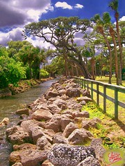 View Down Canal (Chris C. Crowley) Tags: park trees clouds fence canal rocks windy bluesky fnm bej naturalexcellence alohagroup scenicsnotjustlandscapes mostviewedpics notinterestingenoughforexploreiguess