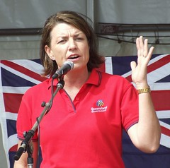 Anna Bligh - 070507 Labor Day March and Rally,...
