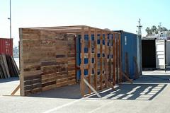 FR8 - David Deany - construction in progress 2 (Angels Gate) Tags: art pola artexhibition angelsgate fr8 portoflosangeles agcc angelsgateculturalcenter artonthewaterfront