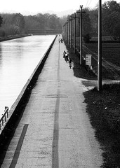 Cycling against the stream #2 (kyllwtr) Tags: bw italy canon ticino it va eos20d villoresi 123bw kyllwtr