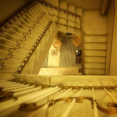 Belgica stairwell - by J. Star