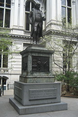 Boston - Freedom Trail - Old City Hall - Benjamin Franklin statue by wallyg