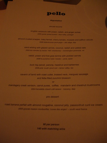 Pello, Darlinghurst - degustation menu