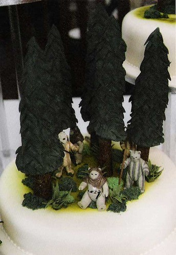 Star Wars wedding cake Ewoks by SomeRandomNerd.