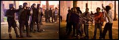 Anti-Sarkozy Demonstration & Riots (25) - 06May07, Paris (France) (°]°) Tags: news paris france riot election diptych mosaic flag military helmet reporter may photojournalism police anger demonstration angry gasmask shield bastille sarkozy gendarme protestor demonstrator gendarmemobile