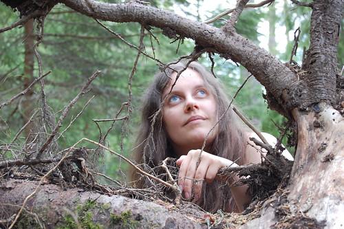 EFIT 2007-05-12. 19:37 - Vi tar Ingur-bilder i skogen hos Vildhjärta