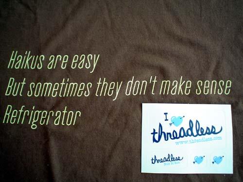 Threadless Tee - Haiku
