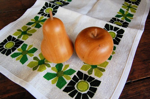 Thrifted wooden fruit