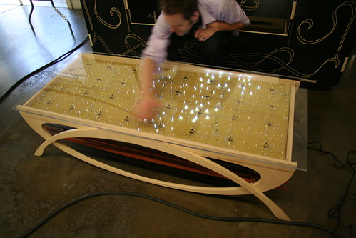 Interactive LED coffee tables Evil Mad Scientist Laboratories