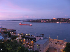 Saint Lawrence River in Quebec City #2 (palestrina55) Tags: canada saint night river geotagged lawrence twilight ship quebec 2006 qubec stlawrence quebeccity thumbsup kanada twothumbsup saintlawrenceriver worldcitycenters cans2s palestrina55 geo:lat=46812261 geo:lon=71204292 thumbsupwrestling lptwilight tuw111