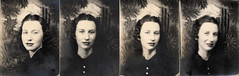 vintage photobooth photos: my grandmother (deflam) Tags: grandma arizona portrait woman phoenix lady vintage booth photo 1930s photobooth desert grandmother young posing brunette darkhair gilmer mayna darkclothes