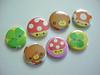 - Kawaii Buttons - (Warm 'n Fuzzy) Tags: bear cute mushroom buttons kawaii badges clover qlia kamio mushie 1buttons