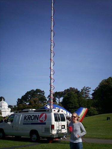 KRON 4 news crew van
