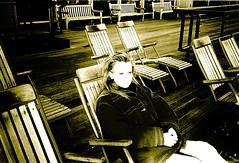 Phantoms of things past... 10 years ago - N.Y. Seaport... (Angria) Tags: city people woman usa newyork me sepia port puerto pier muelle mujer ciudad southstreetseaport estadosunidos nuevayork eeuu anawesomeshot
