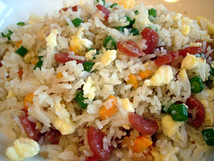 Fried Rice (su-lin) Tags: food dinner rice egg chinese sausage garlic carrots greenbeans shallots fried