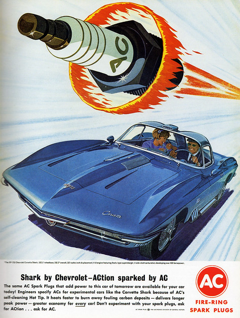 1960s Advertising - Magazine Ad - AC Spark Plugs (USA)
