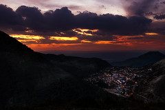 Magical Sunset at Real de Catorce (Luis Montemayor) Tags: city sunset sky clouds mexico atardecer lights luces town pueblo ciudad cielo nubes myfavs realdecatorce sanluispotosi dflickr isawyoufirst dflickr180307