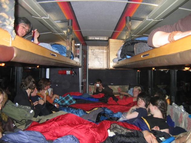 Autobús-cama-comuna del Green Tortoise