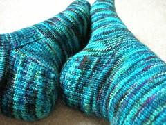 Blue Colinette socks 1
