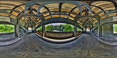 Covered Sitter bridge (behrmi) Tags: roof panorama schweiz switzerland suisse pentax shingle fisheye architektur gallen hdr sankt gall sanktgallen hugin enblend equirectangular saintgall kugelpanorama perfectpanoramas hdrpanorama panohead photonpanohead