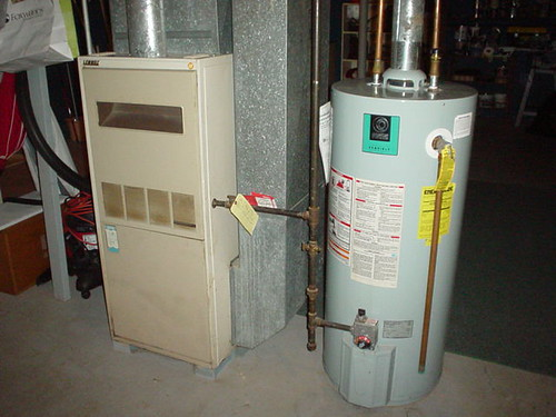 Gas-fired Furnace and Hot Water Heater