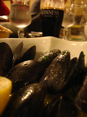 Mussels and Guinness