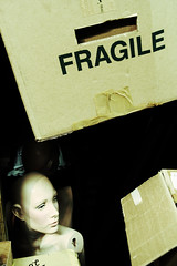 before the fall (helveticaneue) Tags: mannequin typography pennsylvania 2006 warehouse boxes february fragile carlisle centralpa indanger centralpennsylvania kicey laurakicey