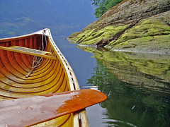 ocean, rocks and canoe (inklake) Tags: ocean morning canada reflection nature topf25 topv111 wow landscape ilovenature island boat topf50 topv333 topv1111 tide interestingness1 paddle canoe loveit solo apex stillwater lovely samples canoetrip glide 777v7f woodencanoe i500 likewise specland bluelist inklake 1on1objectsmayhalloffame 1on1objectshalloffame likewiseblog