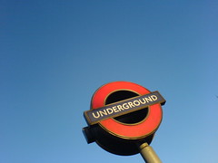 Overunderground (stevec77) Tags: uk blue england sky london sign underground tube londonunderground tubesigns bbcopenlab