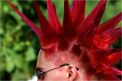 new hair style (BlueBreeze) Tags: red rot germany bestviewedlarge frisur zensur domino redhair hairstyle karlsruhe dasfest nocensorship keine thebiggestgroup keinezensur